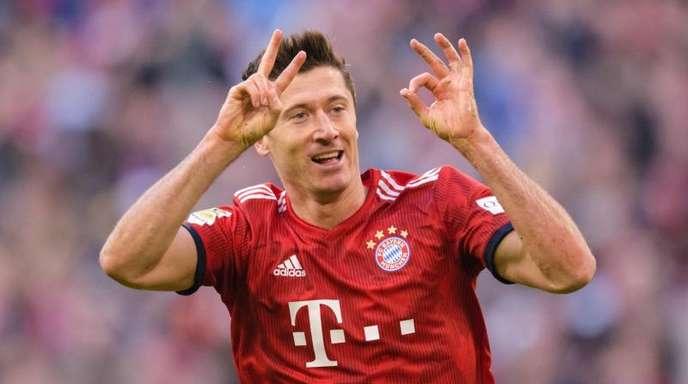 Am Samstag gegen die Mainzer werden wieder Tore von ihm erwartet: Robert Lewandowski vom FC Bayern.