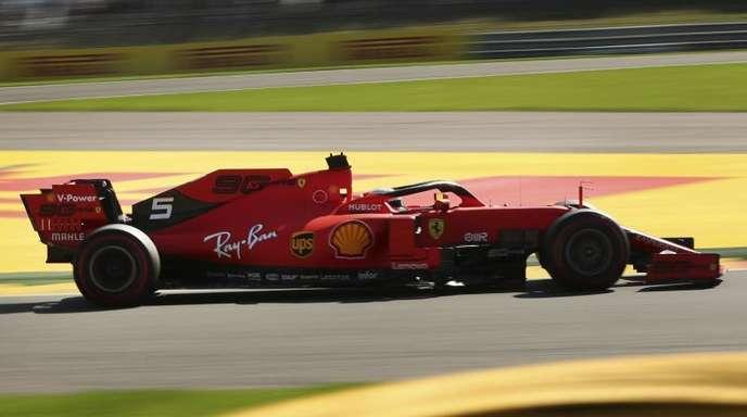 Fuhr im ersten Spa-Training die Bestzeit: Ferrari-Pilot Sebastian Vettel.