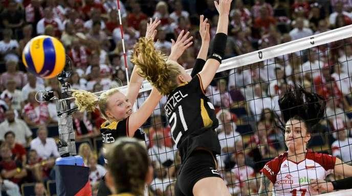 Deutschlands Volleyballerinnen zogen gegen Polen letztlich den Kürzeren.