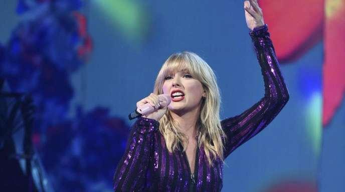 Taylor Swift bei einem Konzert in New York.