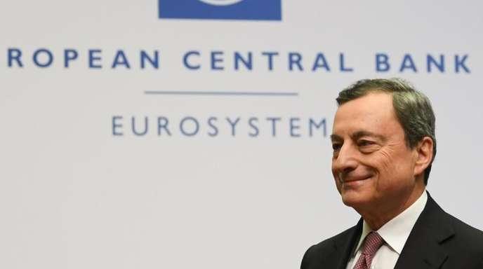 EZB-Präsident Mario Draghi nach einer Pressekonferenz in der EZB-Zentrale in Frankfurt.