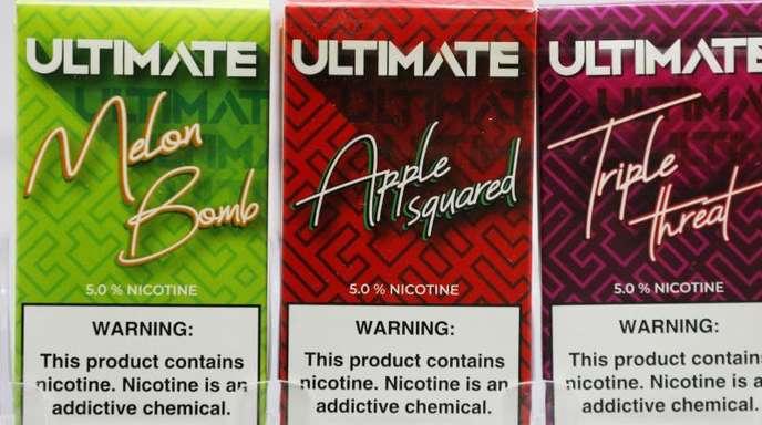 Angebot von E-Zigaretten in den USA.