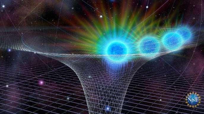 Die Grafik veranschaulicht den Weg, den Sterne am Rand eines schwarzen Lochs nehmen.