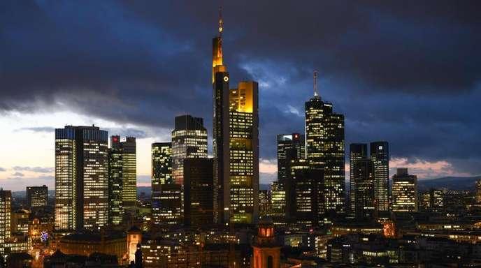 Die Frankfurter Skyline.