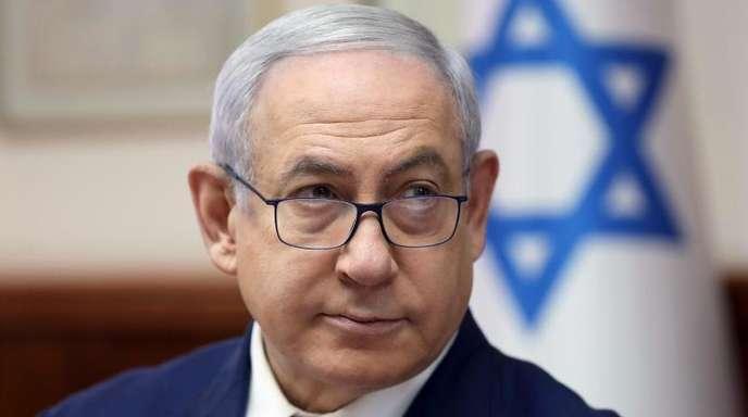 Premierminister Benjamin Netanjahu während einer der wöchentlichen Kabinettssitzungen in Jerusalem.
