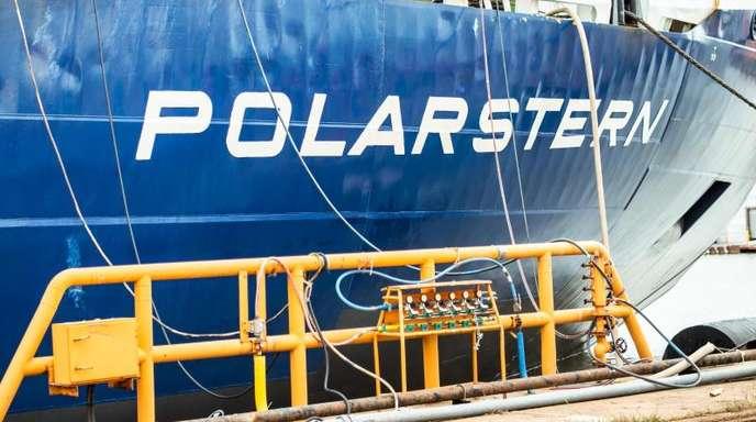 """Das Forschungsschiff """"Polarstern"""" Anfang Juli in Bremerhaven."""