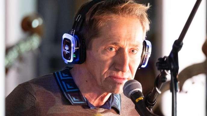 Regisseur Schorsch Kamerun bei der Generalprobe des Musiktheaterstücks «Motor City Super Stuttgart».