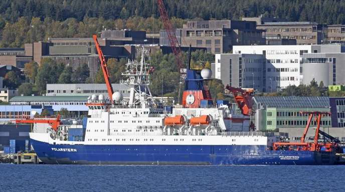 Das deutsche Forschungsschiff «Polarstern» vor Tromsø in Norwegen.