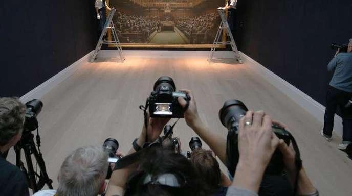 Sotheby's versteigerte Banksys «Devolved Parliament».
