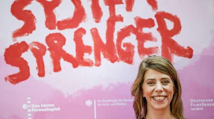 Nora Fingscheidt stellt ihren Film «Systemsprenger» in Hamburg vor.
