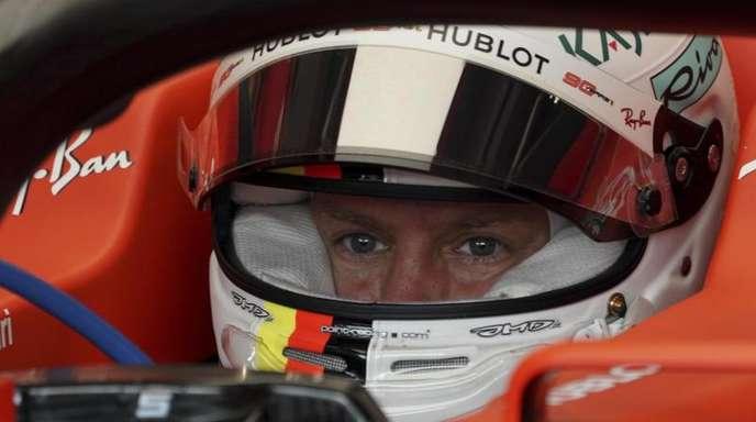Konzentriert: Ferrari-Pilot Sebastian Vettel.