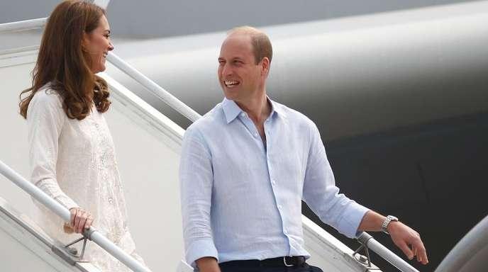 Ankunft in Lahore:Prinz William und Herzogin Kate.