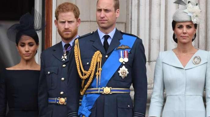 Zwischen Herzogin Meghan (l-r), Prinz Harry, Prinz William und Herzogin Kate läuft momentan nicht alles rund.