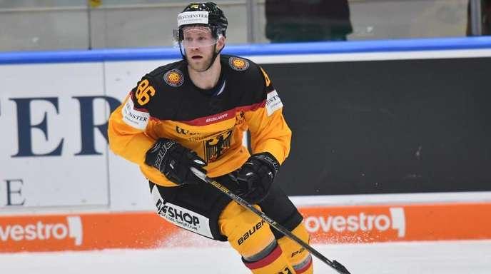 Der deutsche Eishockeyspieler Daniel Pietta.