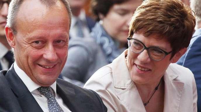 Friedrich Merz und Annegret Kramp-Karrenbauer in Berlin.