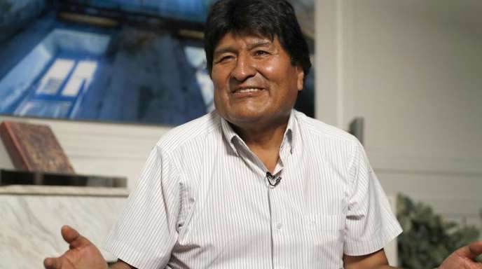 Evo Morales, Ex-Präsident von Bolivien, imExil in Mexiko.