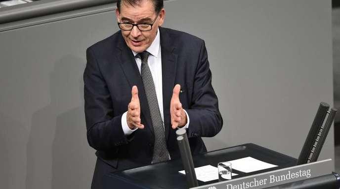 Bundesentwicklungsminister Gerd Müller im Bundestag.