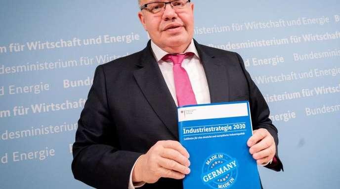 Peter Altmaier (CDU), Bundesminister für Wirtschaft und Energie, stellt die «Industriestrategie 2030, Leitlinien für eine deutsche und europäische Industriepolitik» vor.