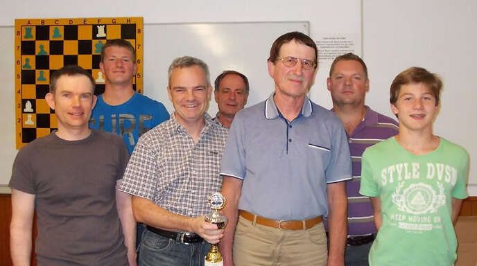 Siegerehrung des Renchtalpokal-Turniers 2015: Daniel Müller, Johannes Danner, Frank Pluschke, Dieter Huber, Ludwig Kaltenbronn, Dejan Vignjevic, Tim Huber (von links).