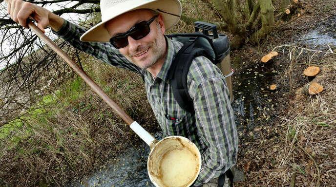 Feuchtgebiete wie das rund um den Schutterner Baggersee sind eine Wohlfühloase für Mückenlarven. Hier können sie sich bestens entwickeln. Doch mit Thomas Weitzel ist das nicht zu machen.