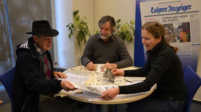 Seit 30 Jahren gibt es die Grüne Liste Umweltschutz im Gemeinderat. Redakteurin Anja Rolfes blickte mit den Gemeinderäten Joseph Hugelmann und Dietmar Kairies auf die vergangenen drei Jahrzehnte zurück (von rechts).