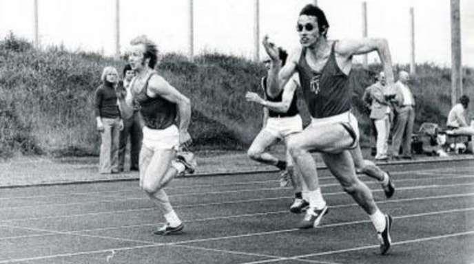 "Foto: Archiv - Georg Nückles (rechts), Sprinter-""König"""