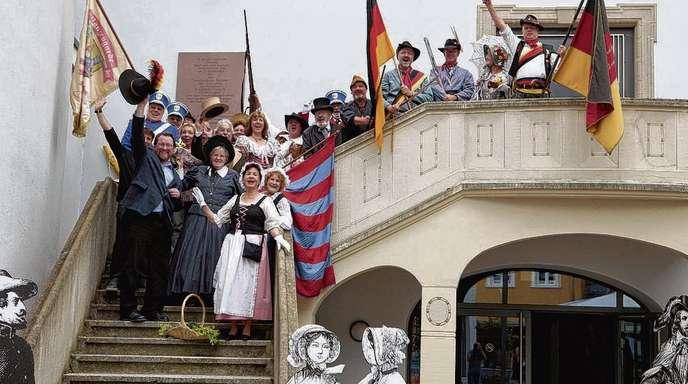Christoph Breithaupt - Vorgeschmack: Bei der Vorstellung des Programms für das Freiheitsfest 2012 waren gestern viele Akteure vor Ort, die auch am Freiheitstag mitwirken werden.