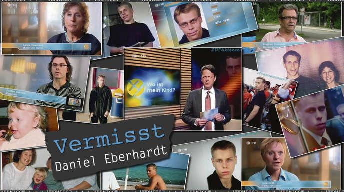 Am 2. November 2011 wurde die Geschichte des vermissten Daniel Eberhardt bei »Aktenzeichen XY« gezeigt. Danach bekam seine Mutter Hinweise, dass er in Offenburg gesehen wurde. Sie machte sich auf nach Offenburg.