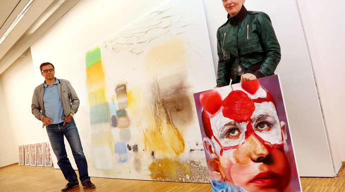 Ulrich Marx - Florin Kompatscher (links) und Maria Brunner stellen bis 21. Oktober beim Kunstverein Offenburg/Mittelbaden aus.