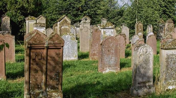 Der jüdische Friedhof von 1816 in Freistett: Zahlreiche Grabsteine mit ihren hebräischen Inschriften sind fast alles, was heute an die Geschichte der Juden in Rheinau erinnert. Diese begann gegen 1700 und endete tragisch in der Nazizeit.
