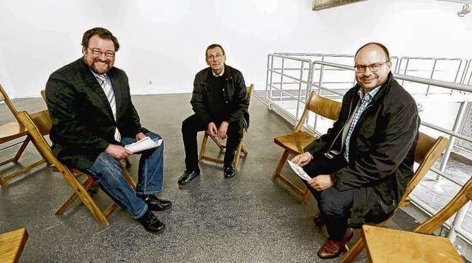 Ulrich Marx - Freuen sich auf das Künstlersymposium (v.l.): Kulturamtschef Simon Moser, Rainer Nepita und Axel Bleyer (Künstlerkreis) und Wolfgang Reinbold (Stadt Offenburg).