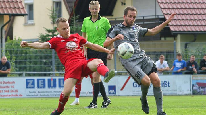 Spielmacher Thomas Dautner (r.) will mit dem SC Durbachtal für eine Pokal-Überraschung sorgen und gegen Oberligist SV Linx in die 2. Runde einziehen.
