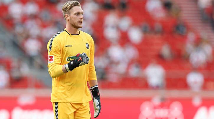 Der ausgeliehene Florian Müller wird auch im ersten Heimspiel gegen Wolfsburg das Tor des SC Freiburg hüten.
