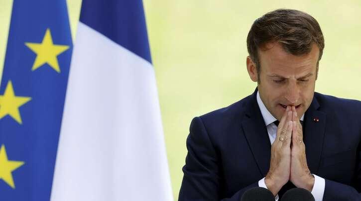Präsident Emmanuel Macron hält am Mittwoch eine TV-Ansprache.