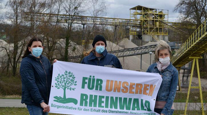 BI-Mitglieder Corinna Riedl (von links), Andreas Keck und Nicole Schmidt