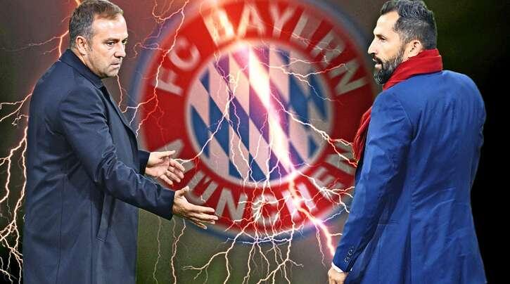 Zwischen Hansi Flick (links) und Hasan Salihamidzic kracht es gewaltig