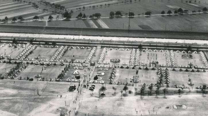 """Ungefähr 20 Lager für Zwangsarbeiter wurden während des Krieges in Offenburg eingerichtet, eines davon """"Im unteren Angel""""."""