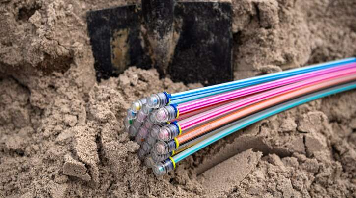 Zur Verlegung bereites Glasfaserkabel. Erster Spatenstich in Achern soll Anfang 2022 sein.