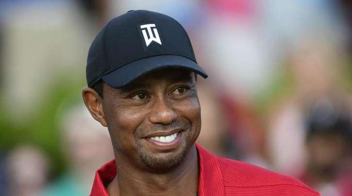 Gut Lachen: Tiger Woods freut sich in Atlanta über den Sieg.