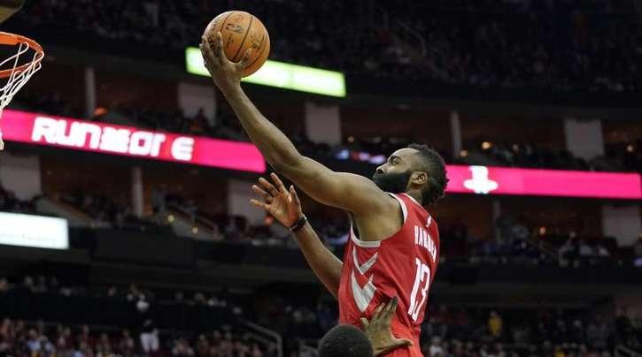Rockets-Star James Harden war mit 27 Punkten der Topscorer.